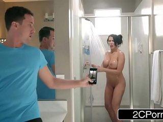 Step Son Catches Reagan Foxx In The Shower