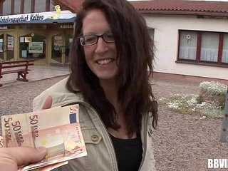 Busty german hooker gets fucked for money