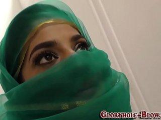 Arab babe sucks black rod