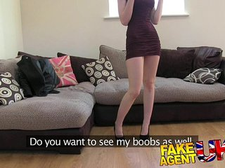 FakeAgentUK Sexy Italian babe shows unbelievable deep throat skills