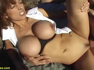 brutal first time outdoor sex for mom