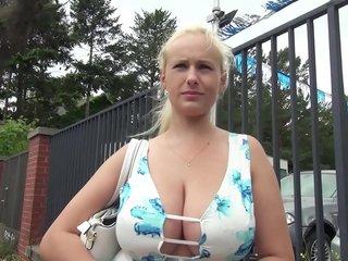 Big tits blonde hot German milf HD