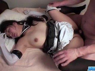 Strong pounding for curvy ass maid Eri Yoshino