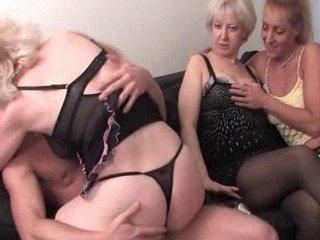 Teen stripper fucking mature cunts in orgy